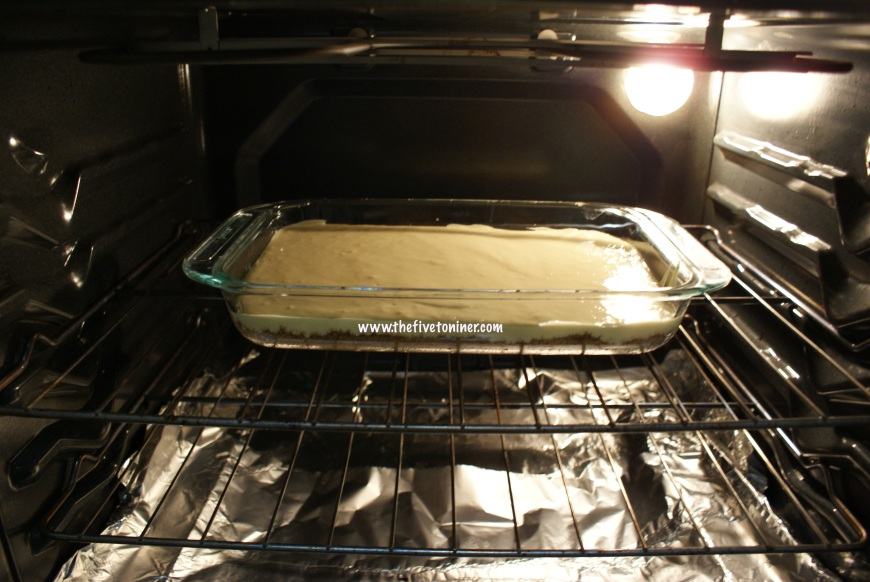Place it in the oven and bake for 10 minutes, rotating once half way through.