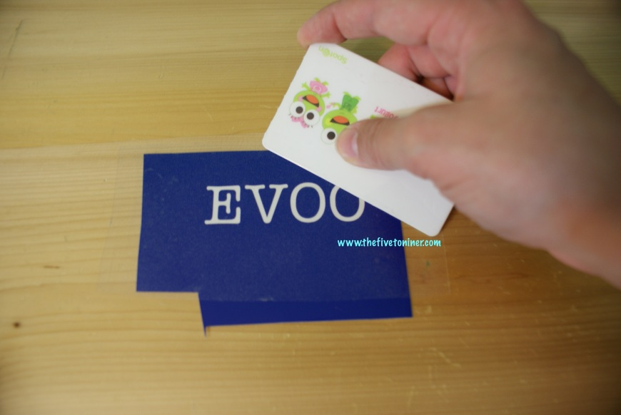Burnish the transfer tape on top of your design.