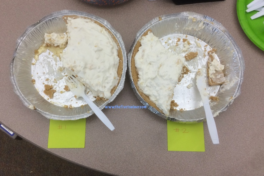 The pie taste off!